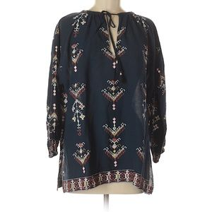 Madewell Tribal Ikat Pullover Top